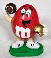 1995 Mars Inc Red M&M Football Player Candy Dispenser Display