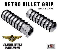 Arlen Ness Harley Davidson Retro Chrome Billet Cable Style Handlebar Grips
