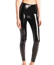 Commando Womens Size Small Black Faux Patent Leather Leggings NEW SLG25