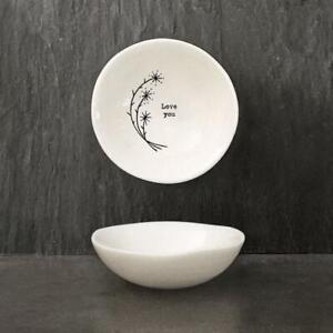 Porcelain Bowl - Love You - Small Wobbly Bowl - Trinket Dish - East Of India