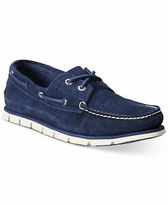 Timberland Men's Casual Shoes Loafers Hommes Full Grain Leather Blue TB0A1HB2