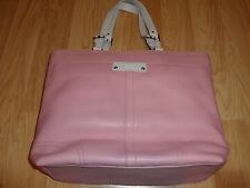 COACH HAMILTON SOFT PEBBLED LEATHER BOOK TOTE 13083 PINK NWT + ESTEE LAUDER CASE