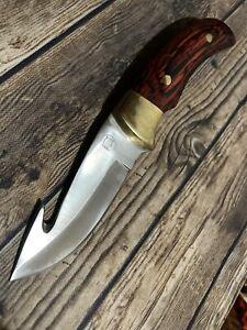 """Chipaway cutlery hunting Deer Skinner gut hook knife Pakka wood Handle 8"""""""