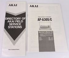 akai ap-a 305 manuale, originale