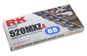 catena trasmissione moto cross enduro Rk Mxz4 passo 520 colorata blu offroad YZF
