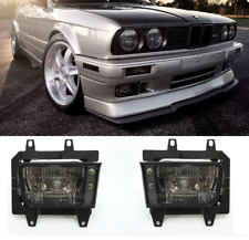 Pair GLASS foglamps foglights fogs Fog SMOKED SMOKE BMW E30 facelift 88-95