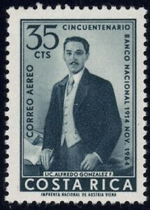 1965 Costa Rica SC# C399 - 50th Anniv. of the National Bank - M-H