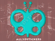 3D Sticker Decal Resin Domed Butterfly Adhesive Decal  Turquoise