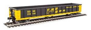 Walthers HO Scale 53' Railgon Gondola Railgon/GONX (Black/Yellow) #310144
