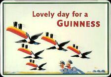 Guinness Flying toucan tôle carte postale tôle BOUCLIER METAL tin CARD sign 10 x 14 CM