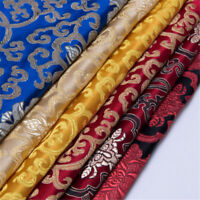 1m*75cm Silk Road Satin Faux Silk Fabric Floral Brocade Dress Clothes Qipao Gift