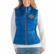 G-III 4her New York Knicks Women's Wing Back Jacket Vest - Blue