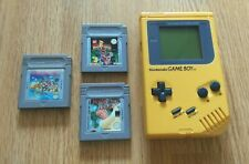 Original Amarillo 1989 Nintendo Gameboy consola DMG-01 Super Mario Land