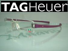 Tag Heuer Track TH 7103 015 Pure Purple Rimless Eyeglasses Frames Size 53