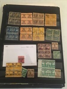 Collection Of Pre-cancels And Few Other On Pages Or Cards N-90