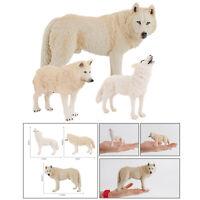 Plastic Wild Animal Wolf Ornament Statue Figurine Art Sculpture Ornaments
