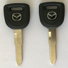 2Pcs Mazda 2 3 5 6 04-14 MZ34 MZ24RT17 Transponder Key Blank USA SELLER