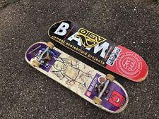 "Bam Margera Skateboard Element ""Bat Manimal� W/ Grindking Trucks & Separate Deck"