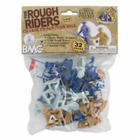BMC San Juan Hill Rough Riders & Spanish Bagged Playset - 32 Pieces 54mm Scale