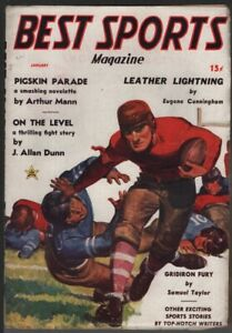 Best Sports 1937 January, #1. Red Circle (Marvel.)    Pulp