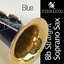 STERLING Bb BLUE SWSP-01 Straight Soprano Sax •  New Saxophone • With Case •