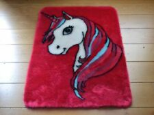 Cute Girls Pink Unicorn Small Size Rugs Fluffy Bedroom Floor Bedside Mats Cheap