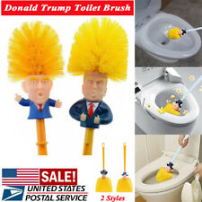 FOR NEW Funny Donald Trump Pattern Toilet Brush Home Bathroom Cleaning Tools US