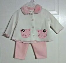 Infant Girl's Button-Front Top and Long Bottoms Set by Swiggles - Size: 0-3 Mos