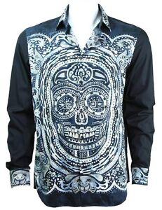 Just Cavalli mosaic skull shirt black