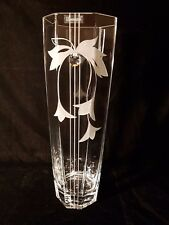 Valentines day gift Vase Elegant + Swarovski Crystal & Sandblasted Gift present