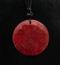 Collier ethnique avec pendentif nacre - Bijoux fantaisie pas cher - rouge BB584