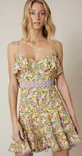 Vestido corto Charo Ruiz Ibizia-Milly en amarillo y lila costo de £ 240-Talla M