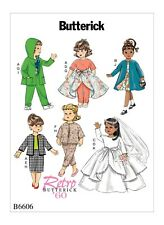 "B6606 Sewing Pattern Butterick Vintage 1960s Styles Doll 18"" 45 cm Bridal Dress"