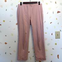 J Jill SZ 8 Premium Bistretch Elastic Waist Pull On Light Pink Trouser Pants
