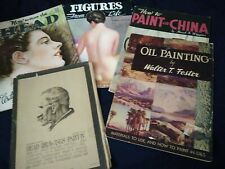 Lot of 5 Vintage How to draw and paint books  Walter Foster Oil painting book