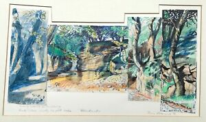 Piers Browne Signed Original Watercolour Painting Sketch for Wordsworth Etching