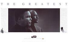 Muhammad Ali and Michael Jordan THE GREATEST (1998) Classic Black & White POSTER