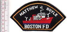 Fire Boat Massachusetts Boston Fire Department Matthew J Boyle Fireboat Eng 44