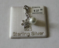 s.Oliver Anhänger Charm 925 Silber mit Zirkonia Blüte Perle  SOCHA/233
