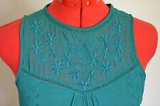 Zara Trafaluc Dress X small, Green-Girly/Country/Ruffle/Embroidered Sleeveless