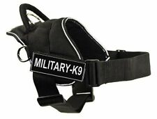 Dean & Tyler DT Fun Works Harness with Leash and Military Patches - Size Large