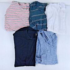 Lot of 6 Madewell T-Shirts & Tank Tops Women's Sz Medium Black White Stripes