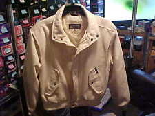 Vintage Members Only Europe Craft Mens Size 40 Camel Bomber Jacket Without Tags