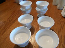 lot of 8 unmarked Harvest Grapevine pattern milk glass dessert cups