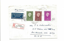 1977 Netherlands registered airmail cover to San Clemente Ca