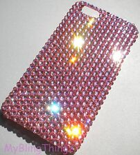 For NEW iPhone Xs BABY PINK Lt Rose Bling Back Case made with SWAROVSKI Crystals