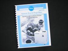 Pillsbury Model 1021 Bread Maker Machine Instruction Manual & Recipes