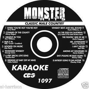 KARAOKE MONSTER HITS CD+G CLASSIC MALE COUNTRY  #1097