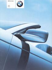 BMW 3er Cabrio Prospekt 1 11 03 11 10 L 1 2001 Autoprospekt Broschüre brochure