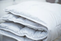 Luxury 100% Merino Wool Duvet/Quilt Single Size 135 x 200 cm 8 tog medium weight